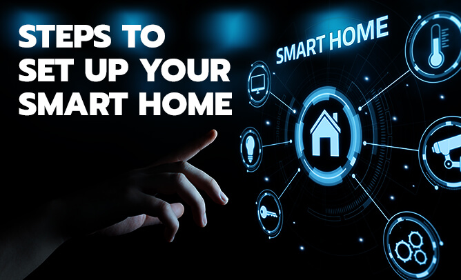 Steps to set up your Smart Home.